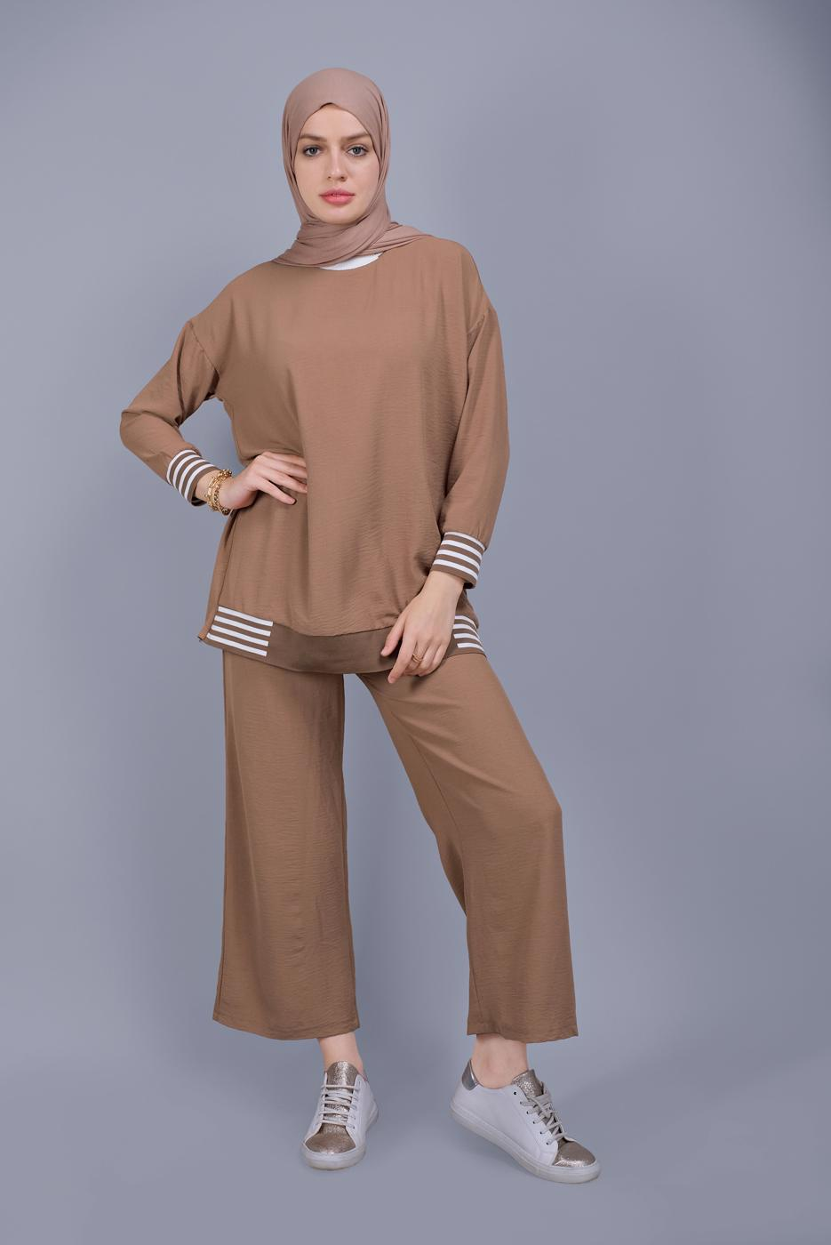 Female TABA STRIPED TROUSERS SUIT  8131