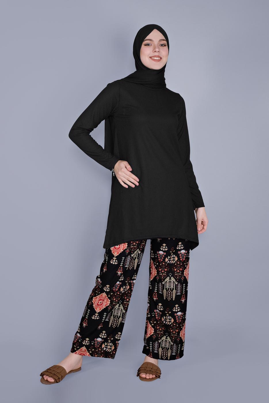 Female BLACK T 9076 NSS-2′Lİ PANT. TAKIM