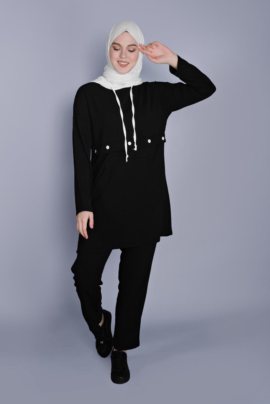 Female BLACK PANTS SUIT  9366