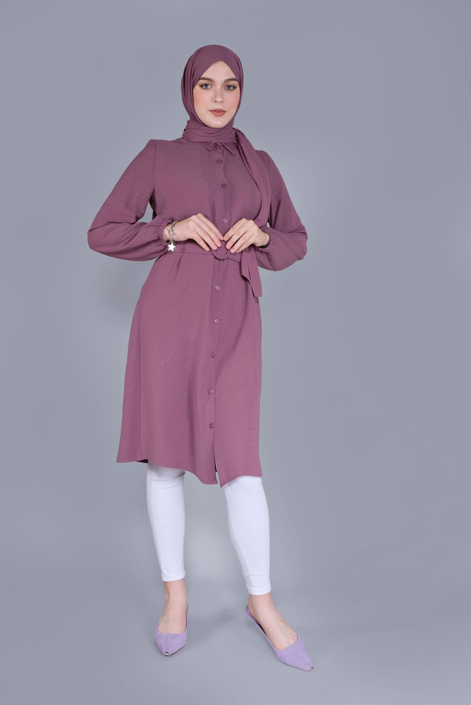 Female PINK BUTTONED TUNIC 1465