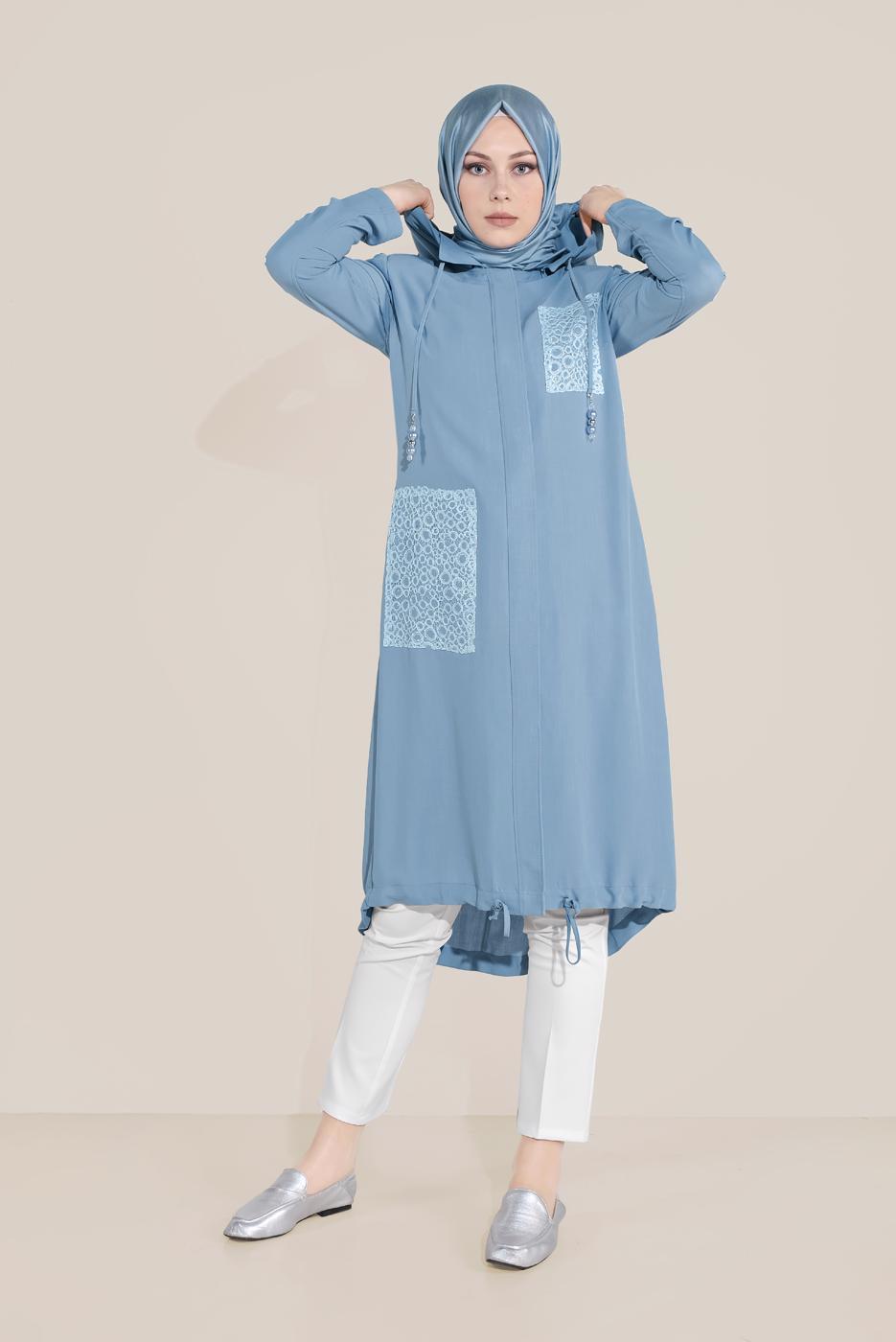 Female BLUE T 10194  ALVİNA LYON TRENÇKOT
