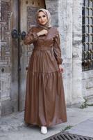 Female TABA BELT DETAIL LEATHER DRESS 2167